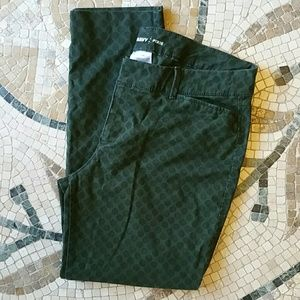 Old Navy, Green slacks, 10 regular, Pixie style